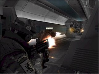 A fire-fight erupts in one of the four console corridors.