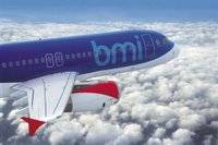 stock photo of bmi plane