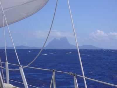 Bora Bora from Raiatea
