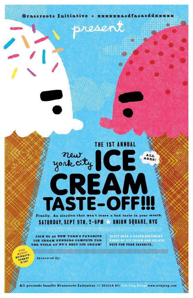 The Indigo Bunting: Ice cream poster