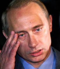 A sad Vladimir Putin