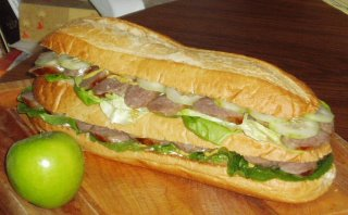 Very large sandwich