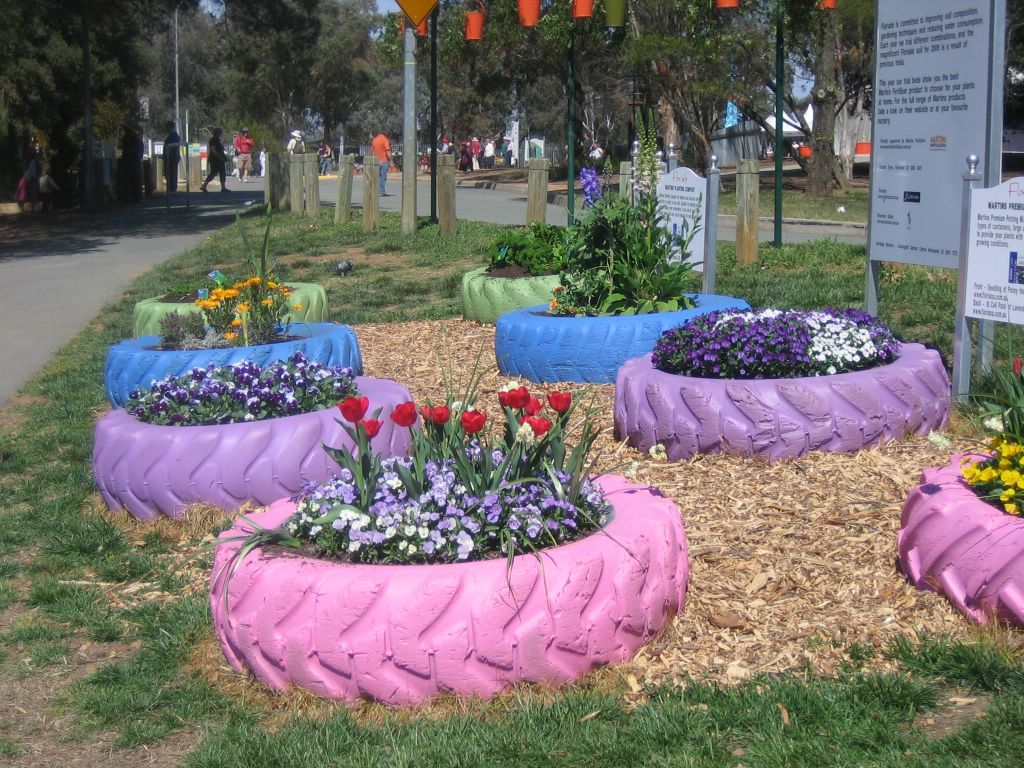 de flores na Austrália Os jardins são arranjados para essa época