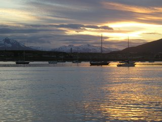 Boats in Ushuaia bay