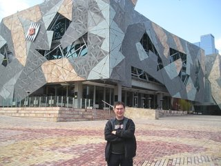 Niall O'Leary at Federation Square Melbourne