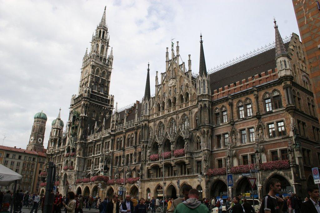 Clock Tower Building Near Munich City Center