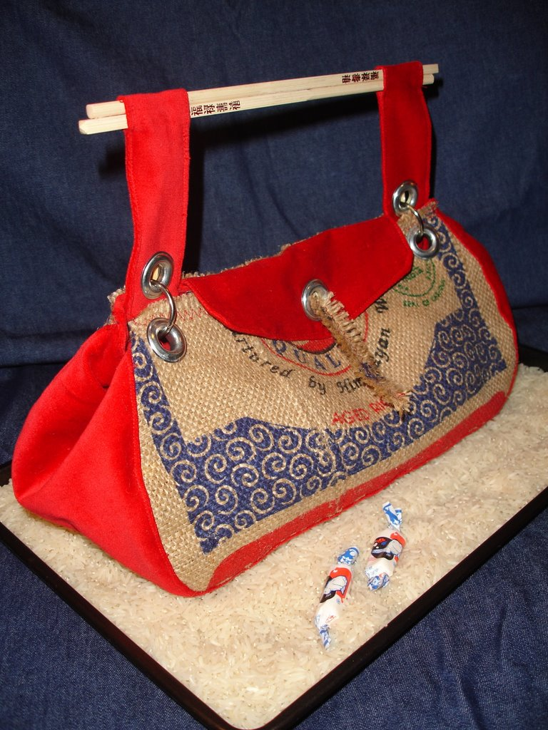 Recycled rice bag purse -  Category 1 Recycled Standard Household Goods And Click On The Photos They Look Better Full Sized Burlap Basmati Rice Bag