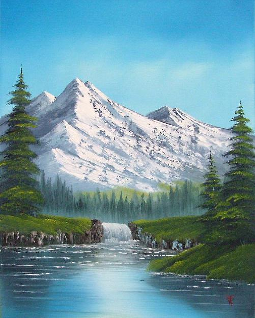 Beginners oil painting classes in west sussex bob ross for Oil painting pictures for beginners