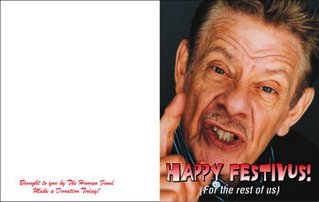 download, resize and print this printable Festivus card, fun for the whole family!
