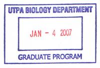 UTPA Bio Grad Program stamp