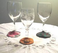 Elegant Wine Glass Coasters