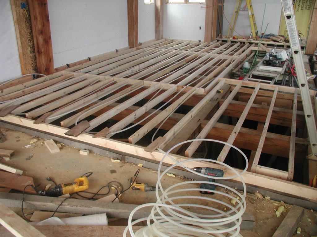 Installing Radiant Heat Under Subfloor