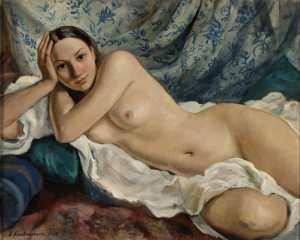 Zinaida Evgenievna Serebriakova - Reclining Nude (1930)