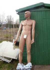 Allotment Mannequin (photo by Paul, 2006)