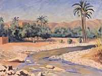 Sir Winston Churchill - View of Tinherir (1951)