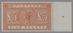 British £5 Orange Stamp (1882)