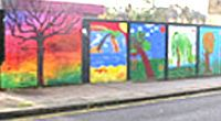 Mill Lane railway bridge Mural
