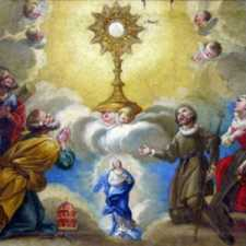 The Saints Adoring the Holy Sacrament