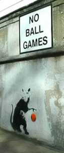 Banksy - Rat with Ball, Paddington, London