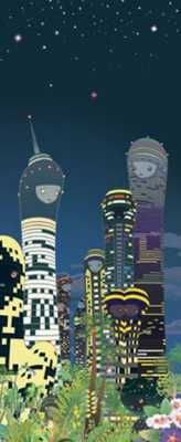 Chiho Aoshima - City Glow detail (2005) © 2005 the artist and Kaikai Kiki Co. Ltd