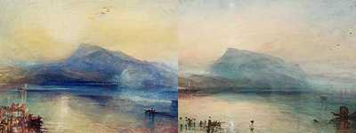 JMW Turner - Dark Rigi and Blue Rigi (1840s)