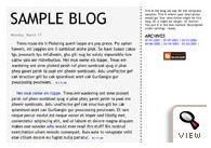 Tekka Blogger classic template