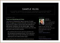 Blogger classic Minima Black template