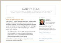 Blogger classic Minima template