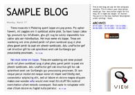 old Blogger classic Tekka template