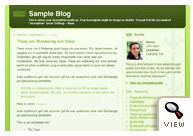old Blogger classic Thisaway Green template