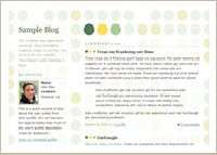 old Blogger classic Dots template