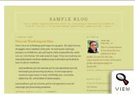 old Blogger classic Minima Ochre template