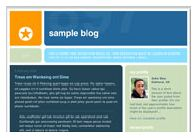 old Blogger classic No. 897 template