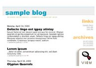 old Blogger classic Jellyfish template