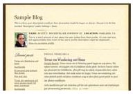 old Blogger classic Scribe template