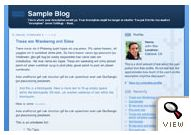 old Blogger classic Thisaway Blue template