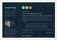 old Blogger classic Dots Dark template