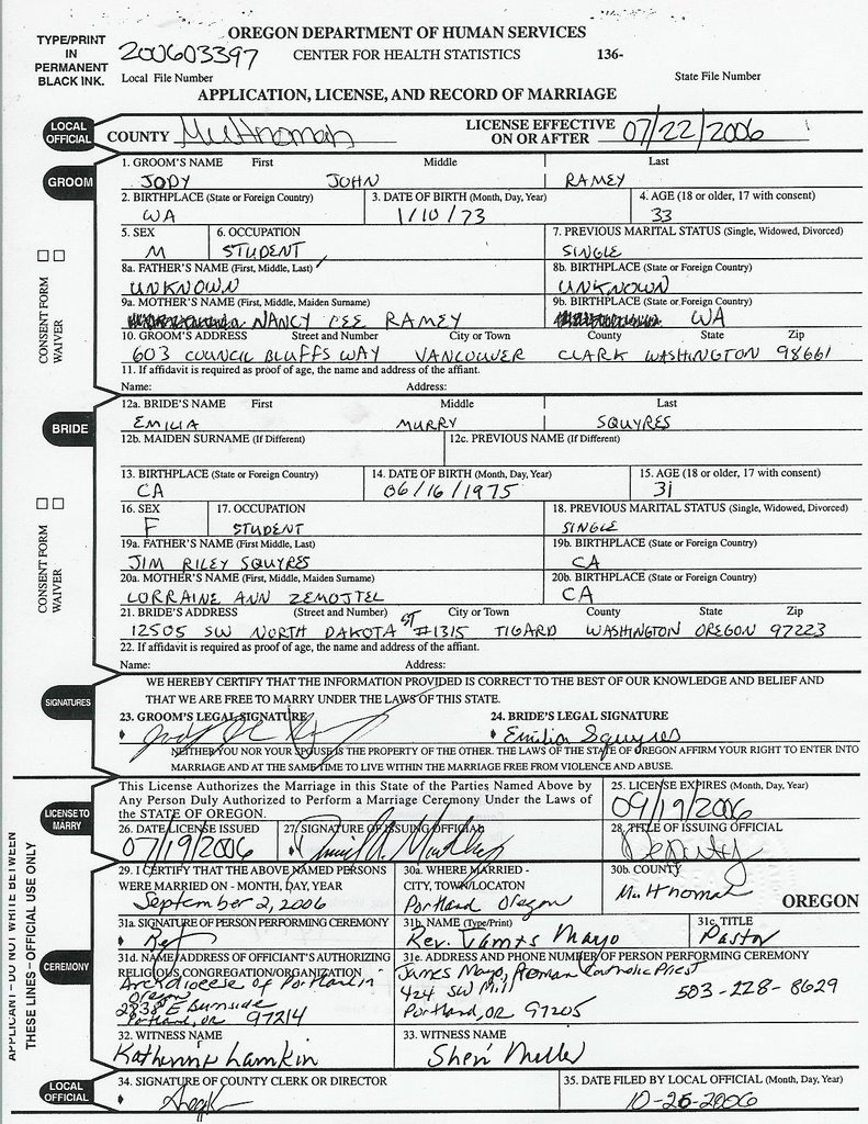 A wedding blog a three month reflection and on the back of the copy is the signature and seal form the notary public authenticating this document as a true copy of the original on file 1betcityfo Images