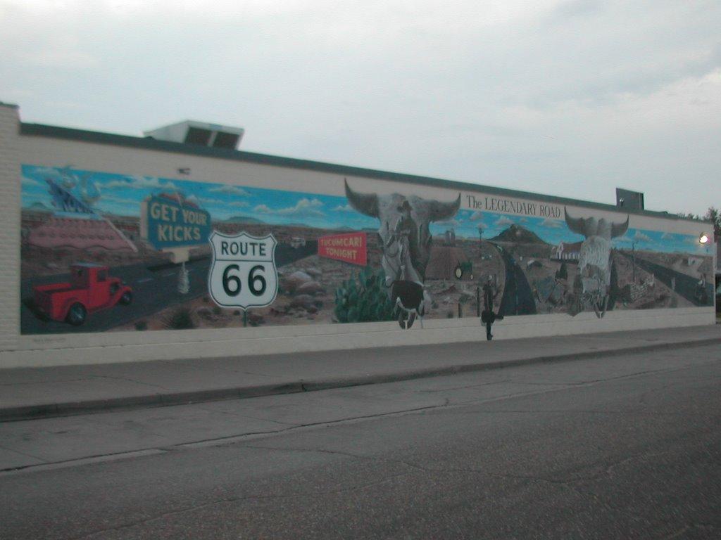 Route 66 spots route 66 mural tucumcari nm for Route 66 mural