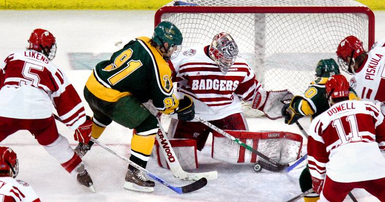 The Clarkson Golden Knights Defeated Wisconsin Badgers Last Night 6 2 In Front Of 13661 Fans At Badger Showdown Madison