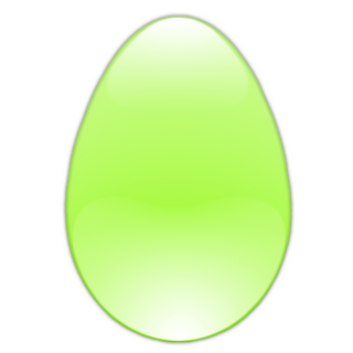 green glass egg