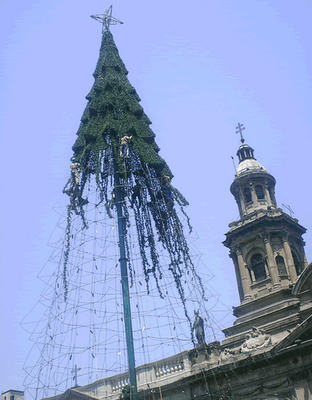 Christmas tree in Santiago of Chile