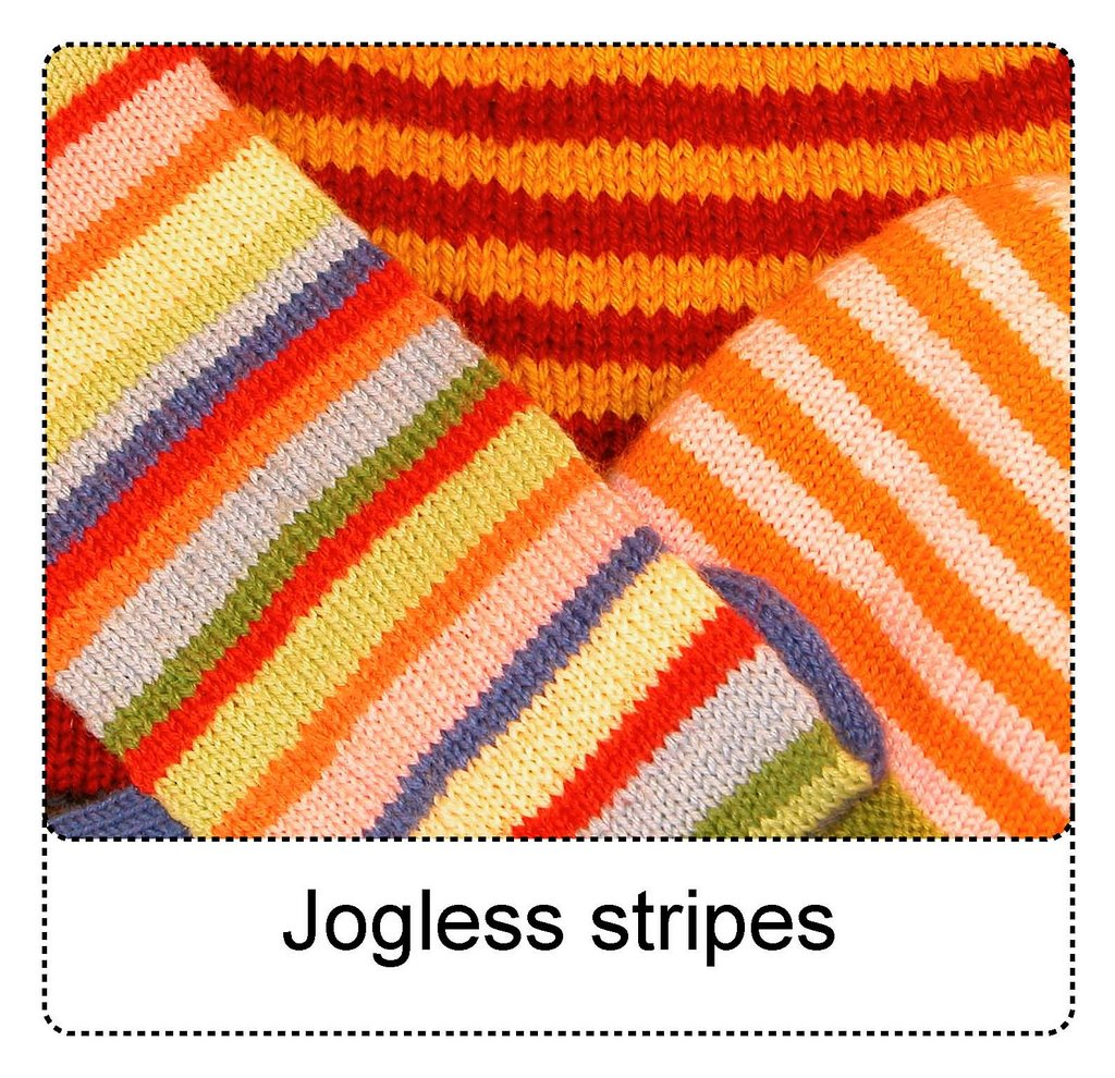 Two Color Double Knitting In The Round : Techknitting jogless stripes a new way
