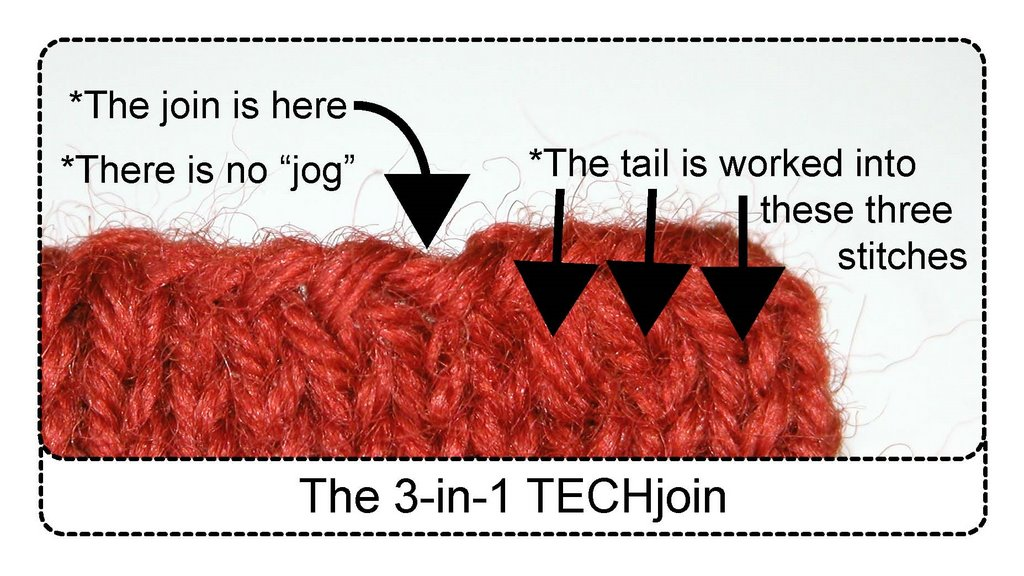 Knitting Stitches Join In The Round : TECHknitting: Joining circular knitting--the 3-in-1 TECHjoin!