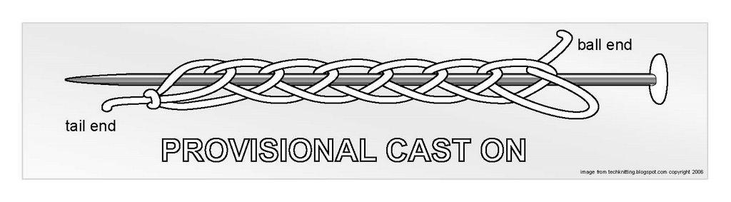 Crocheting Casting On : TECHknitting: Provisional casting-on for knitting on via crochet chain