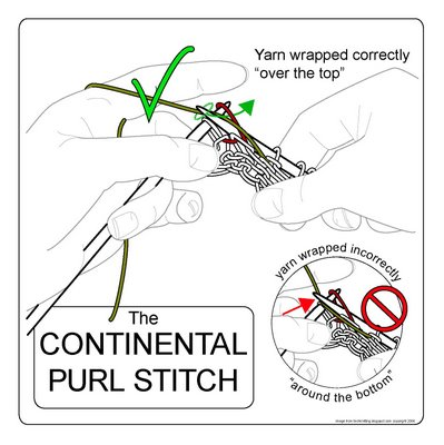 TECHknitting: The continental purl stitch