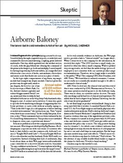 Who Has Time For This?: Scientific American: Airborne Baloney