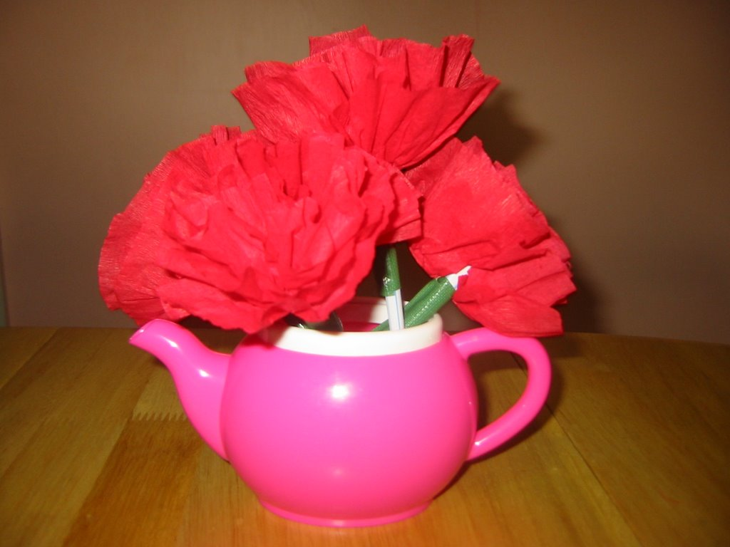 Simple Flower Craft For Kids Crepe Paper Carnations Parenting Times