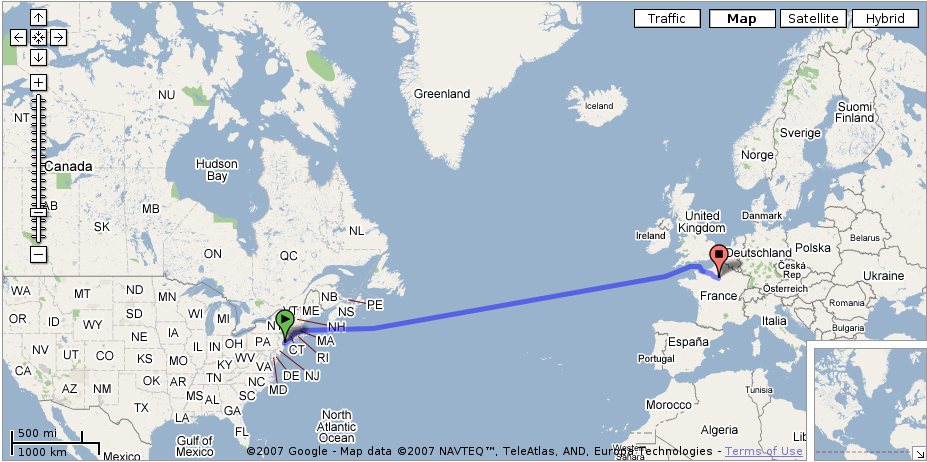 stealcode: Google Can Do Anything: Google-Maps From New York, USA to ...