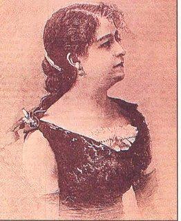 María Álvarez Tubau (1854-1914), célebre actriz madrileña que actuó en el teatro de la Alhambra